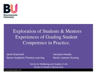Exploration of Students  Mentors Experiences of Grading Student Competence in Practice.
