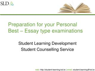 Preparation for your Personal Best   Essay type examinations
