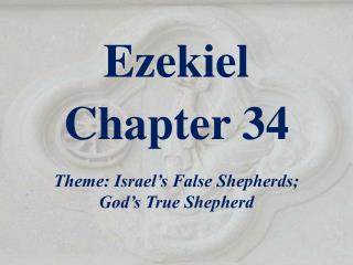 Ezekiel  Chapter 34