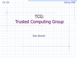 TCG: Trusted Computing Group