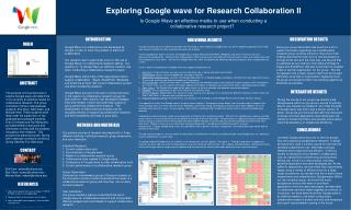 Is Google Wave an effective media to use when conducting a collaborative research project