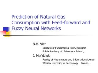 Prediction of Natural Gas Consumption with Feed-forward and Fuzzy Neural Networks
