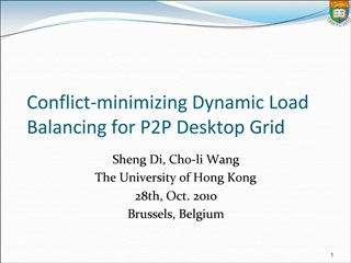 Conflict-minimizing Dynamic Load Balancing for P2P Desktop Grid