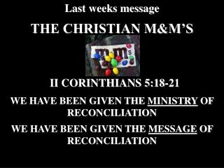 THE CHRISTIAN MM S