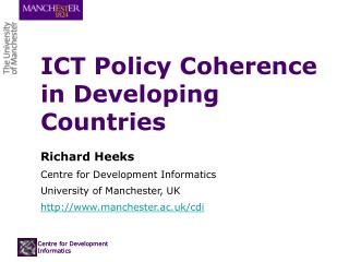 ICT Policy Coherence in Developing Countries