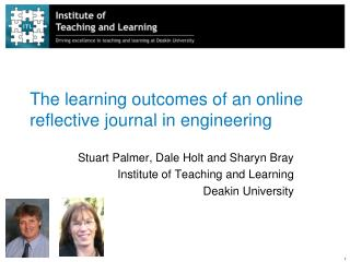 The learning outcomes of an online reflective journal in engineering