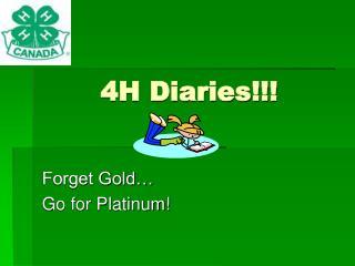4H Diaries