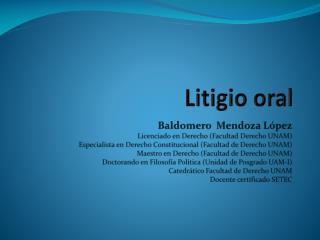 Litigio oral