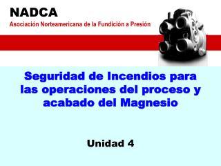 Seguridad de Incendios para las operaciones del proceso y acabado del Magnesio