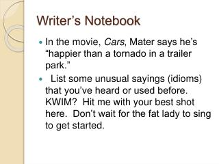 Writer s Notebook