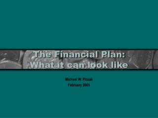 The Financial Plan: What it can look like