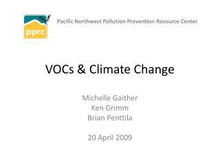 VOCs  Climate Change