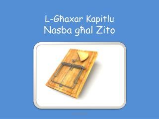 L-Ghaxar Kapitlu Nasba ghal Zito