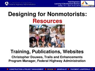 Designing for Nonmotorists: Resources