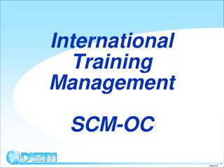 International Training Management  SCM-OC