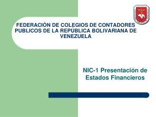 FEDERACI N DE COLEGIOS DE CONTADORES PUBLICOS DE LA REP BLICA BOLIVARIANA DE VENEZUELA