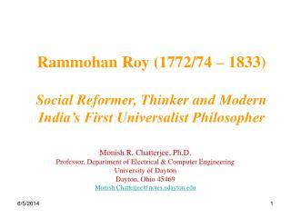 Rammohan Roy 1772