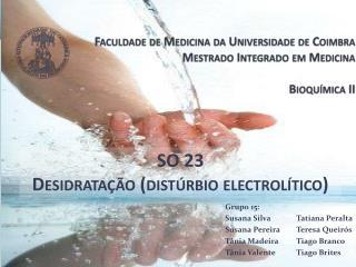 Faculdade de Medicina da Universidade de Coimbra Mestrado Integrado em Medicina  Bioqu mica II