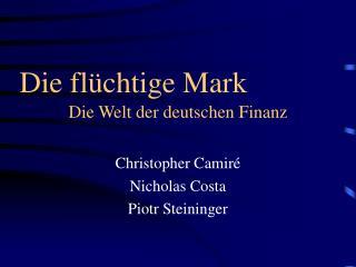 Die Welt der deutschen Finanz
