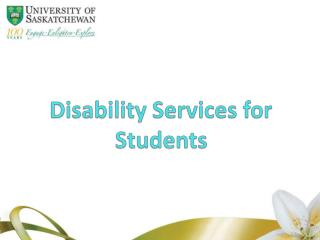 Disability Services for Students