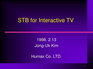 STB for Interactive TV