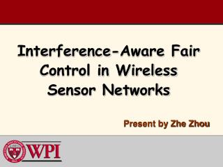 Interference-Aware Fair Control in Wireless Sensor Networks
