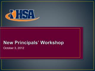 New Principals  Workshop