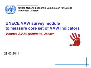 UNECE VAW survey module  to measure core set of VAW indicators