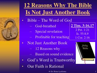 12 Reasons Why The Bible Is Not Just Another Book