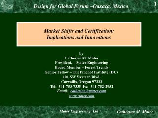 Market Shifts and Certification: Implications and Innovations