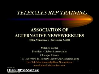 TELESALES REP TRAINING