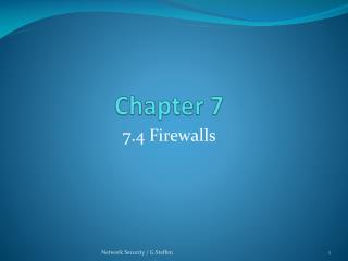 7.4 Firewalls