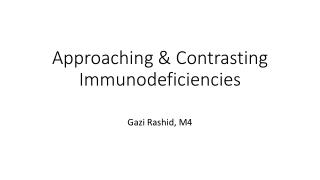 Primary Immune Deficiency