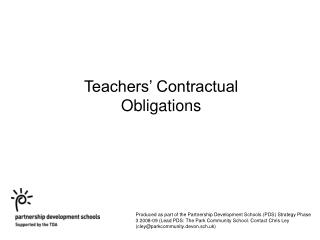 Teachers  Contractual Obligations