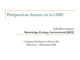 Campana Salud para el Desarrollo Barcelona   Diciembre 2008
