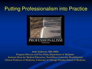 Putting Professionalism into Practice