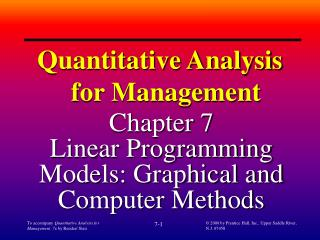 To accompany Quantitative Analysis for Management, 7e by Render