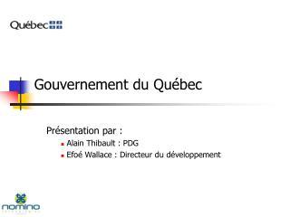 Gouvernement du Qu bec