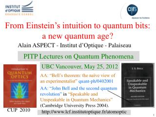 From Einstein s intuition to quantum bits: a new quantum age