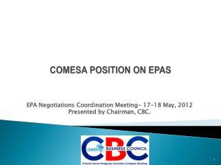 COMESA POSITION ON EPAS