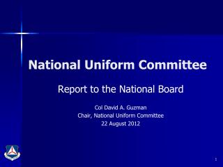 National Uniform Committee