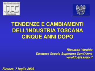 Riccardo Varaldo Direttore Scuola Superiore Sant Anna varaldosssup.it