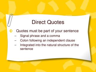 Direct Quotes