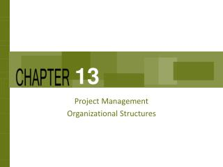 Project Management  Organizational Structures