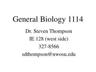 General Biology 1114