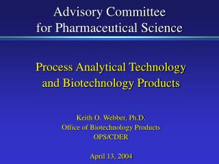 Advisory Committee for Pharmaceutical Science