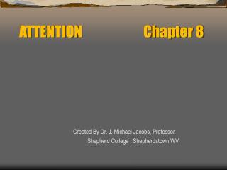 ATTENTION        Chapter 8