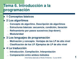 Tema 6. Introducci n a la programaci n