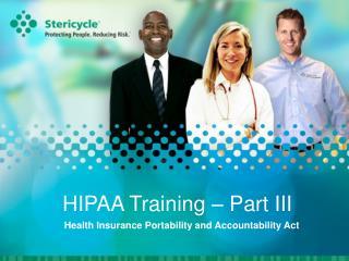 HIPAA Training   Part III
