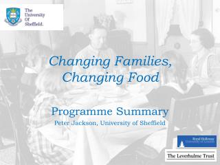 Changing Families, Changing Food